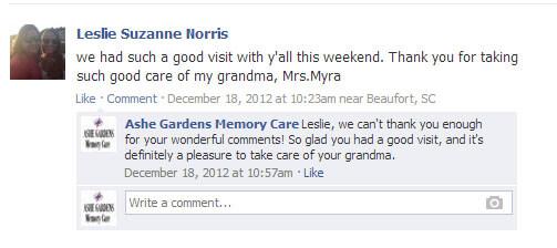 Ashe Gardens Facebook review