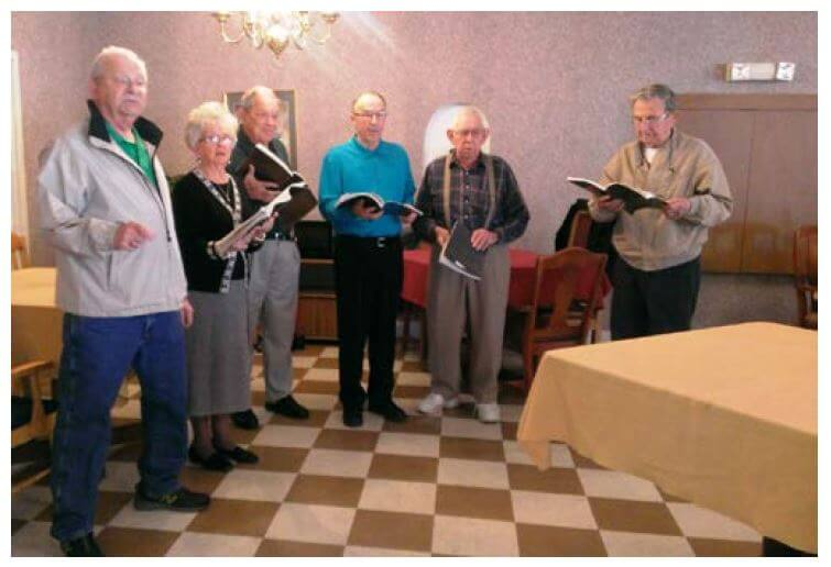 Parker Family Singers singing at Heath House