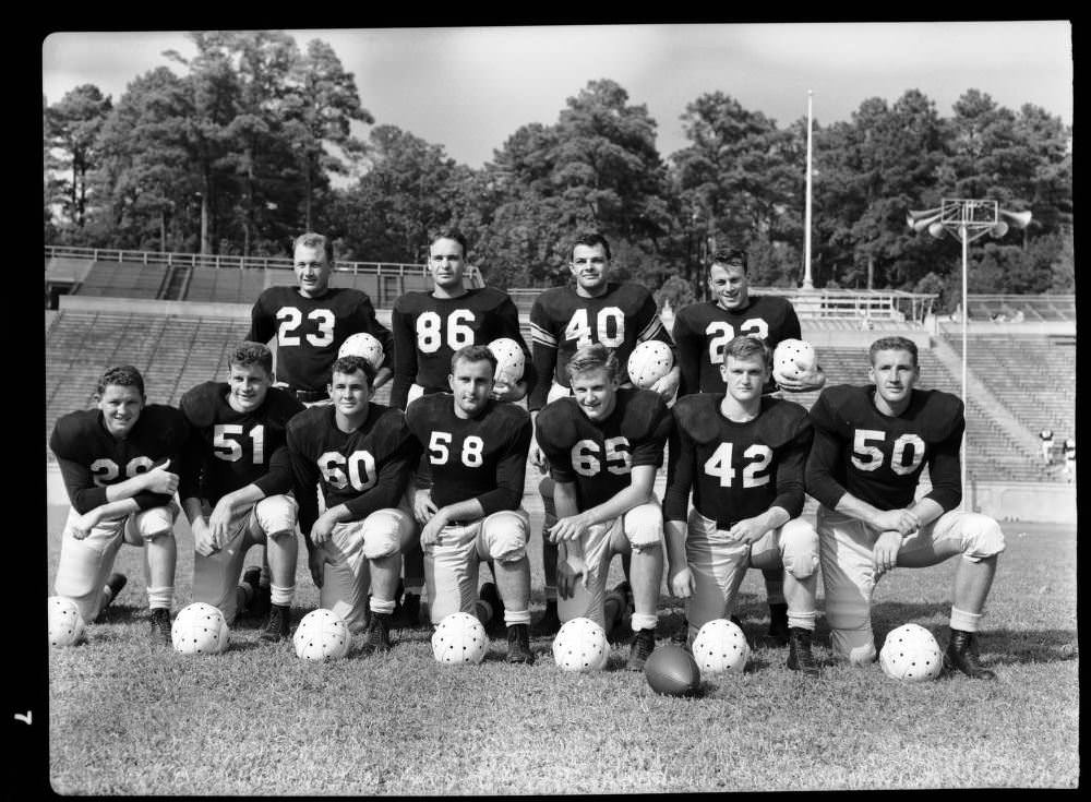 The University of North Carolina at Chapel Hill's 1947 team. Bob is #29, bottom row, far left.