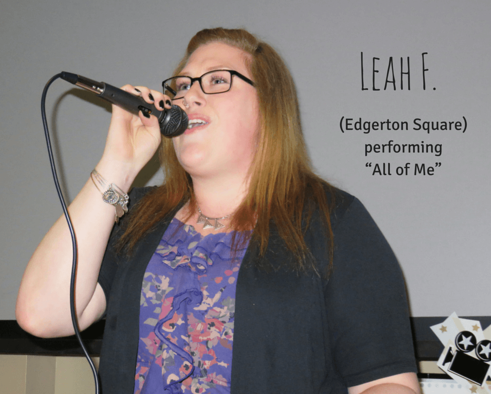 "Leah F. From Edgerton Square performing ""All of Me"""