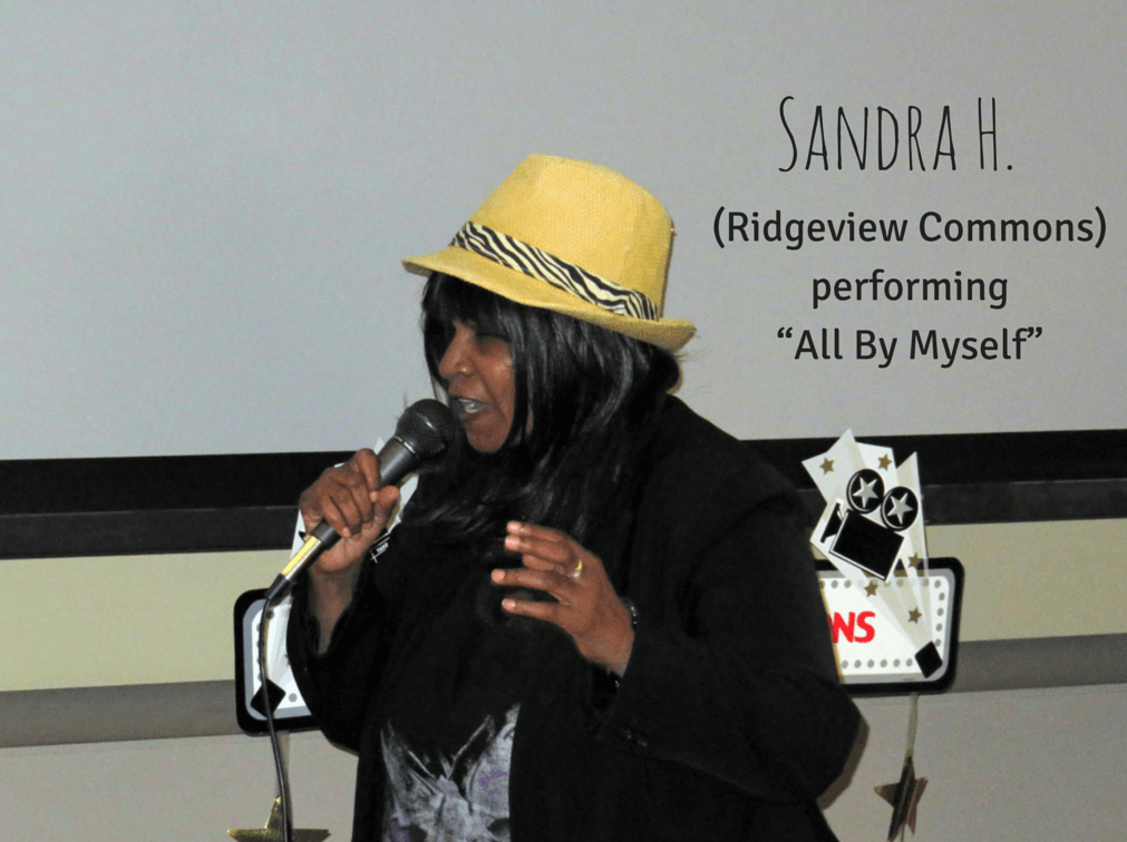 "Sandra H. from Ridgeview Commons performing ""All by Myself"""