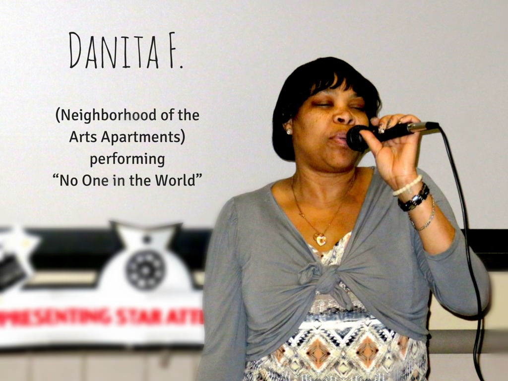 "Danita F. from Neighborhood of the Arts Apartments performing ""No One in the World"""