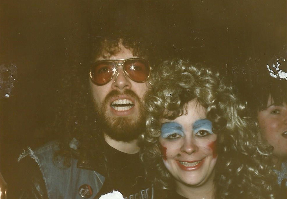 Dee Snider and Sherry Colbert dressed up for a concert
