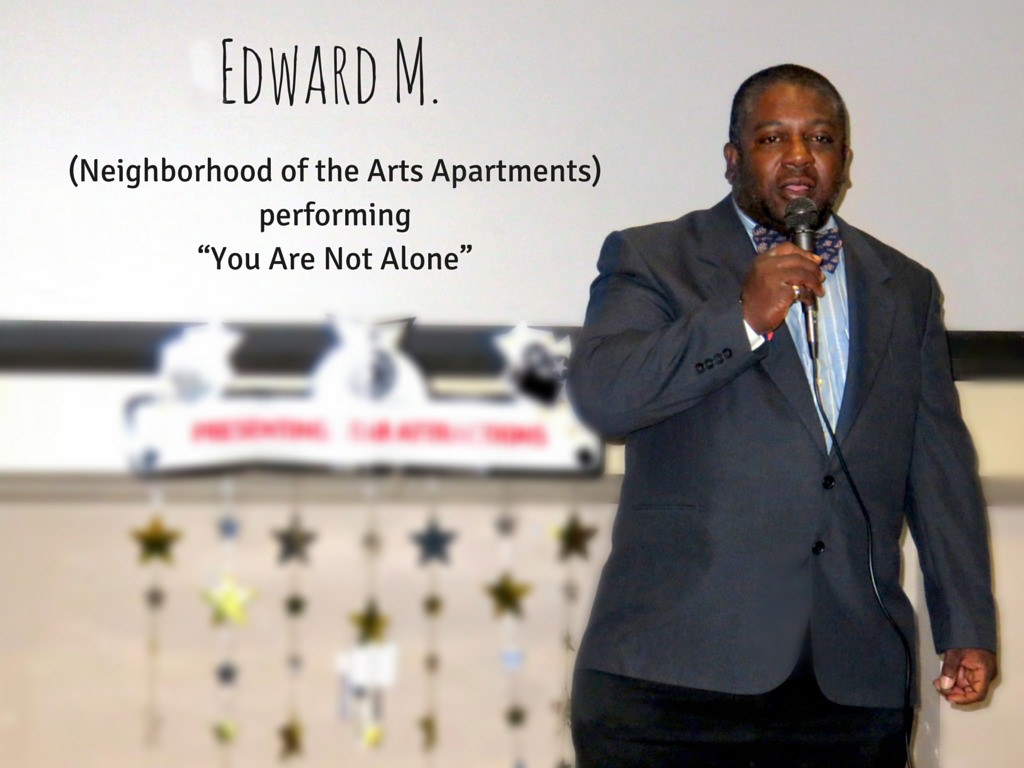 "Edward M. NOTA performing ""You Are Not Alone"""