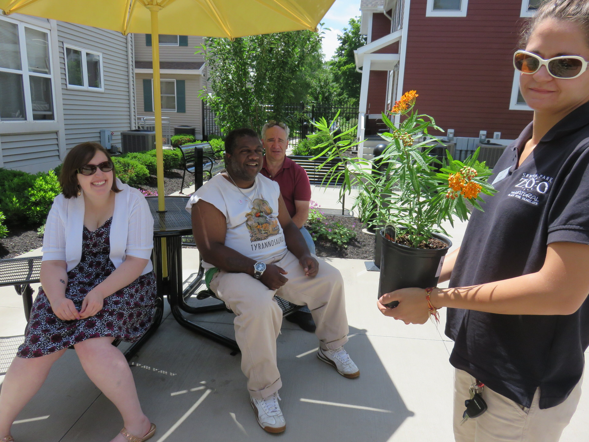 Staff and residents learn about plants