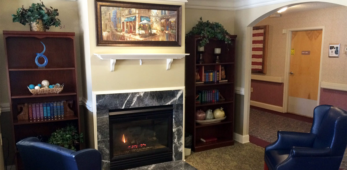 Cambridge House DePaul Senior Living Fireplace