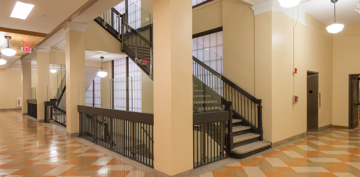 Riverside Apartments Staircase