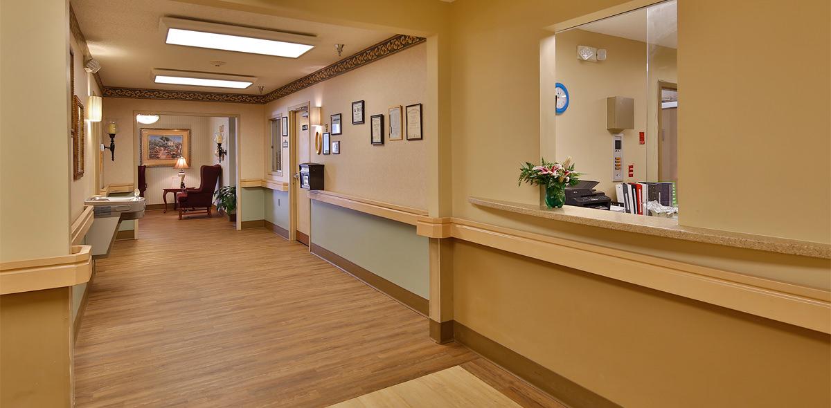 Twelve Oaks DePaul Senior Living Community Hallway