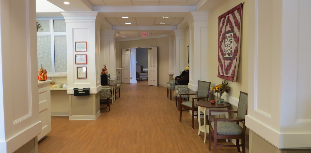 Westwood Commons DePaul Senior Living Hallway