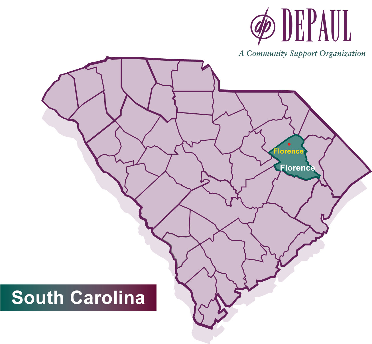 DePaul South Carolina Map 2016