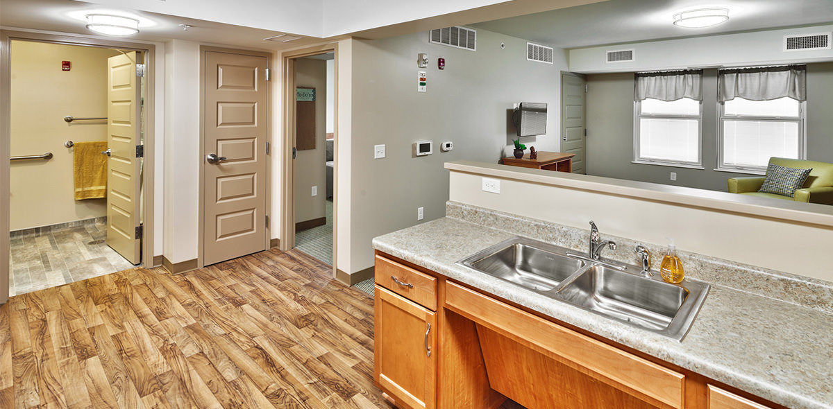 Rochester View Apartments Kitchen