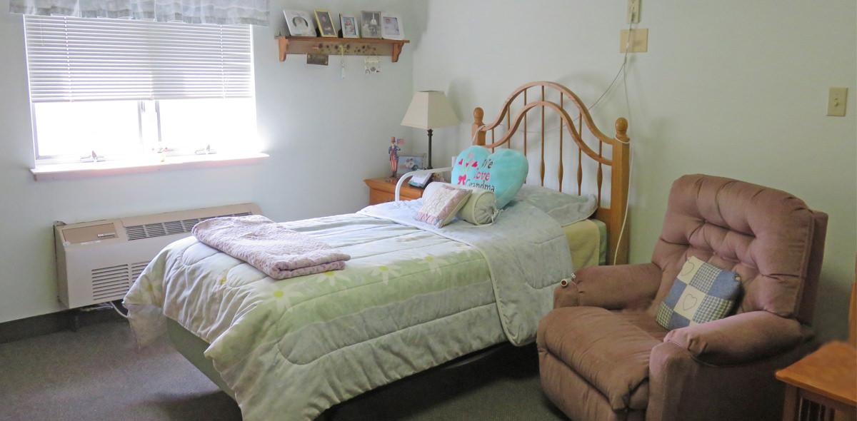 Horizons DePaul Senior Living Bedroom