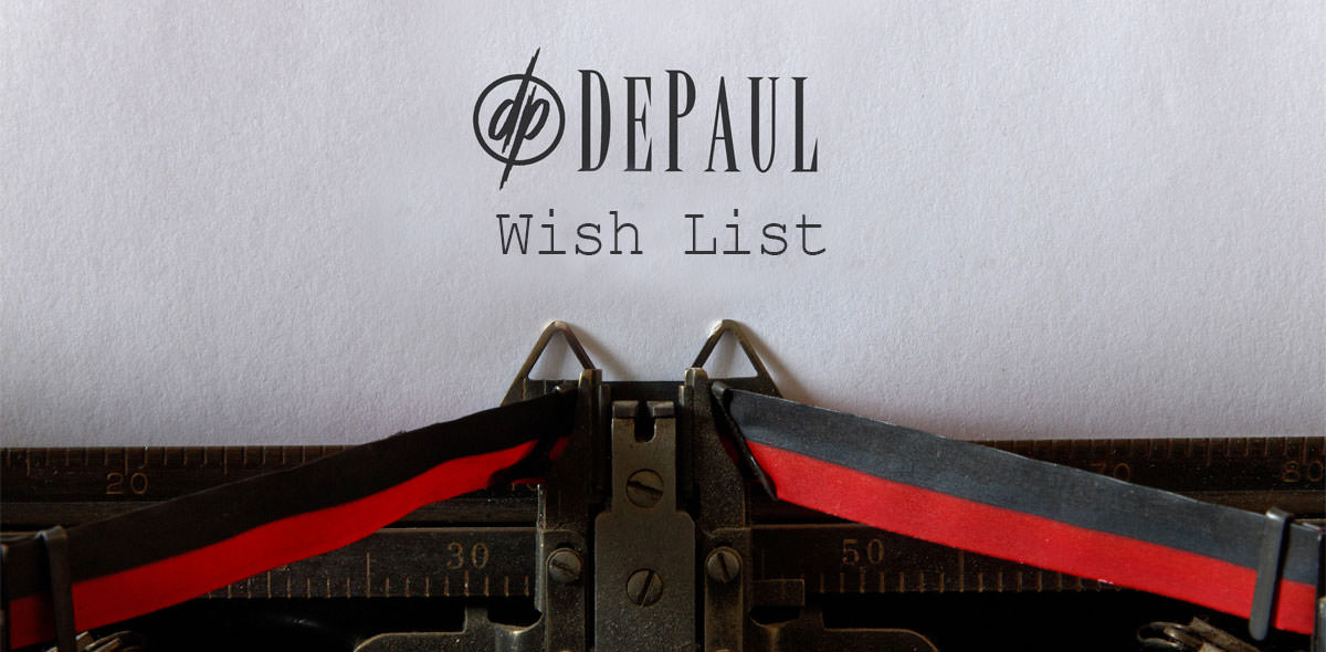 DePaul Wish List Typewriter