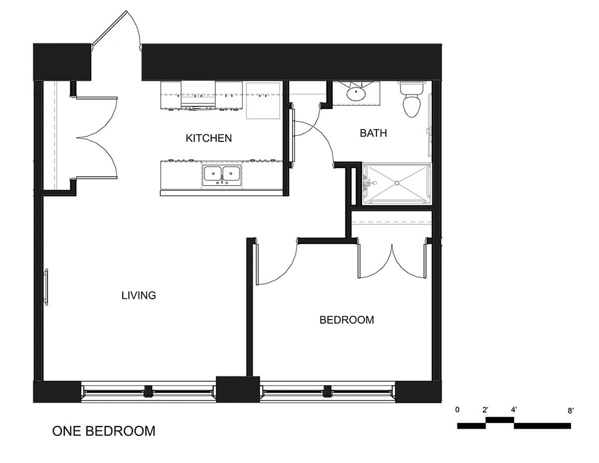 Riverside Apartments One Bedroom Unit