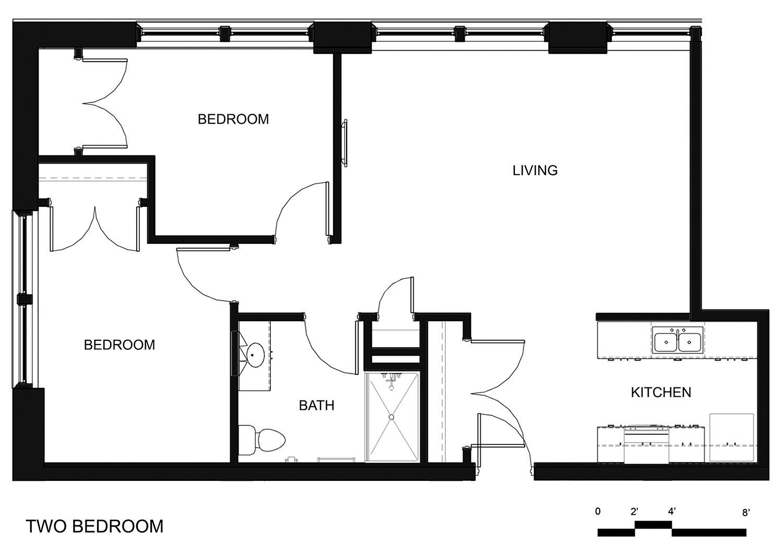 Riverside Apartments Two Bedroom Unit