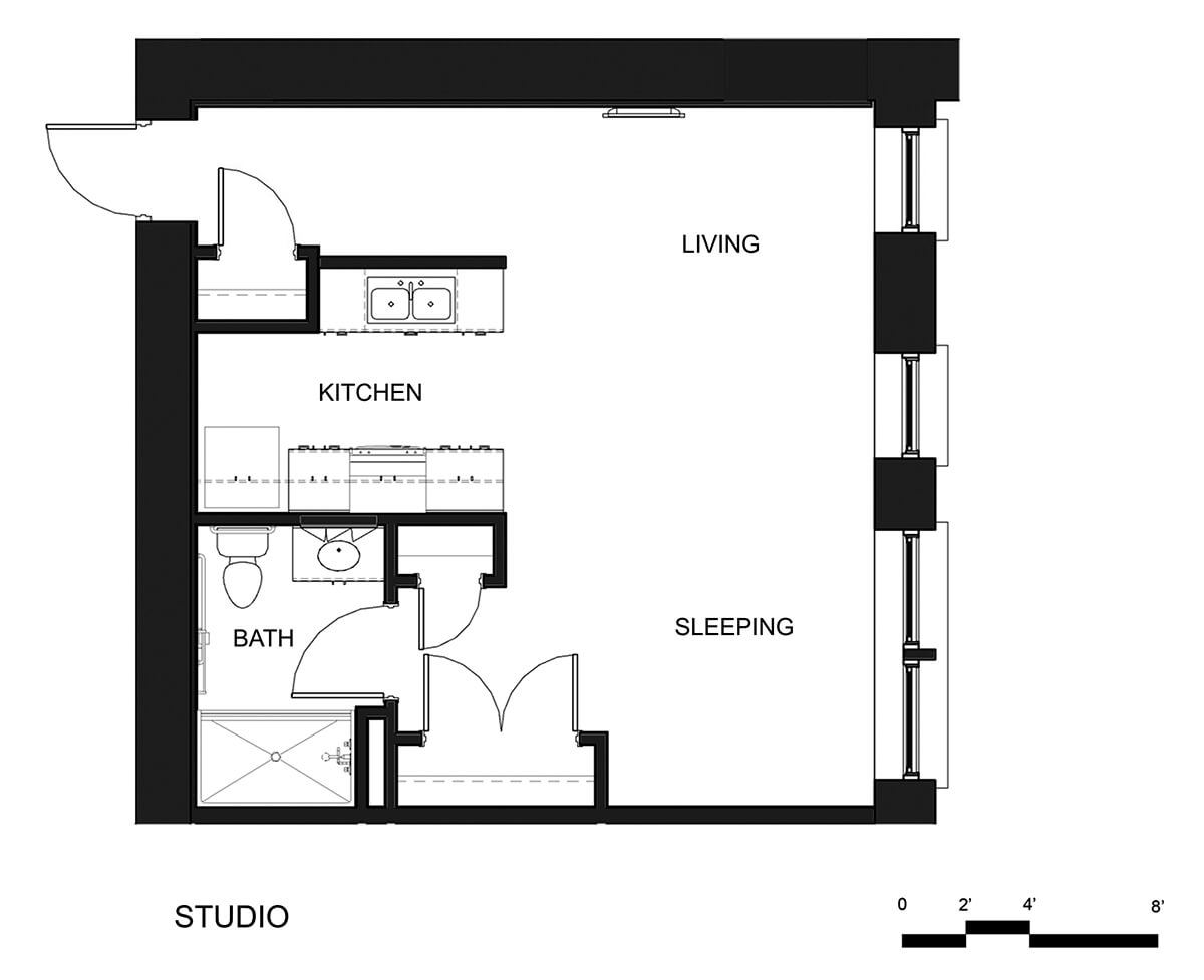 Riverside Apartments Studio Unit