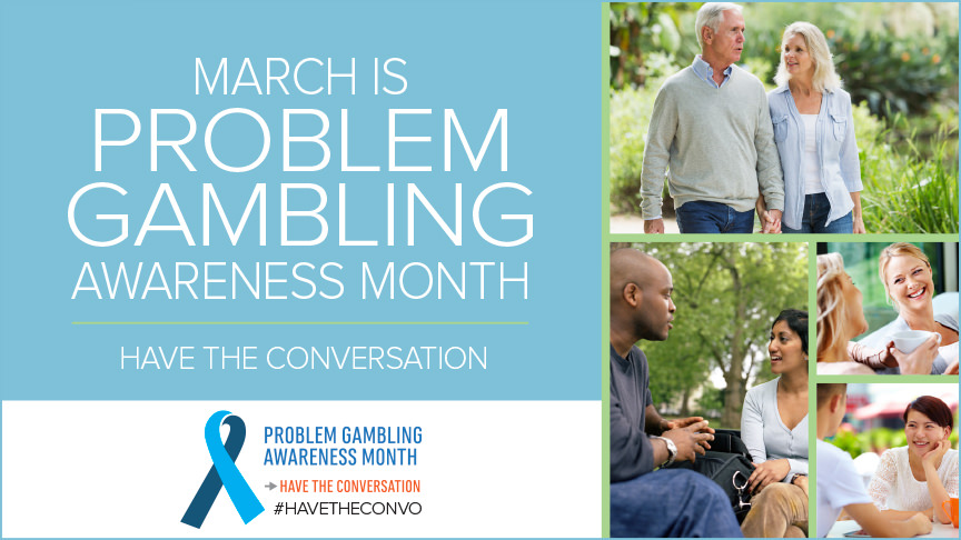 Problem Gambling Awareness Month Banner