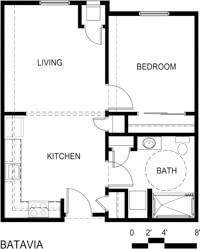 Batavia Apartments Floor Plan