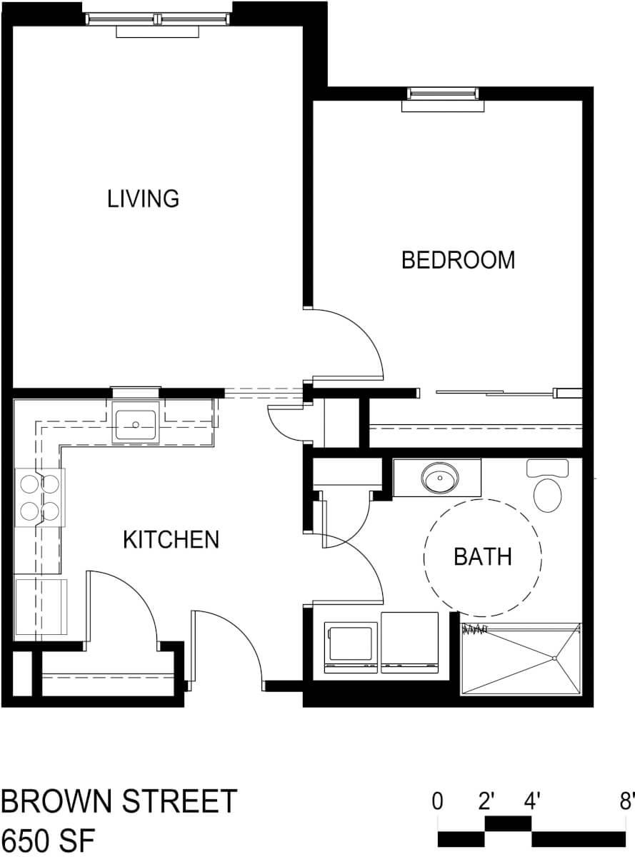 Brown Street Apartments Floor Plan