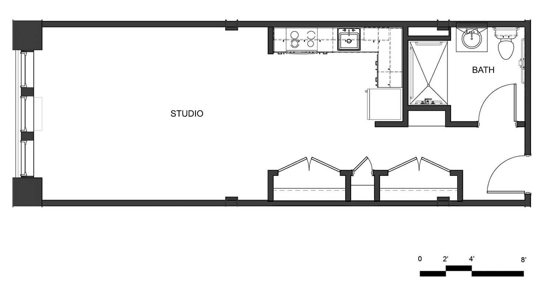 Carriage Factory Apartments Studio Unit