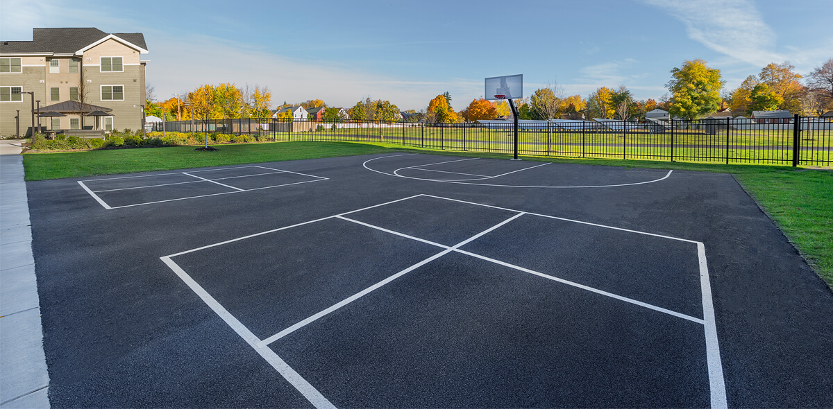 Ebenzer Square Apartments Basketball Court