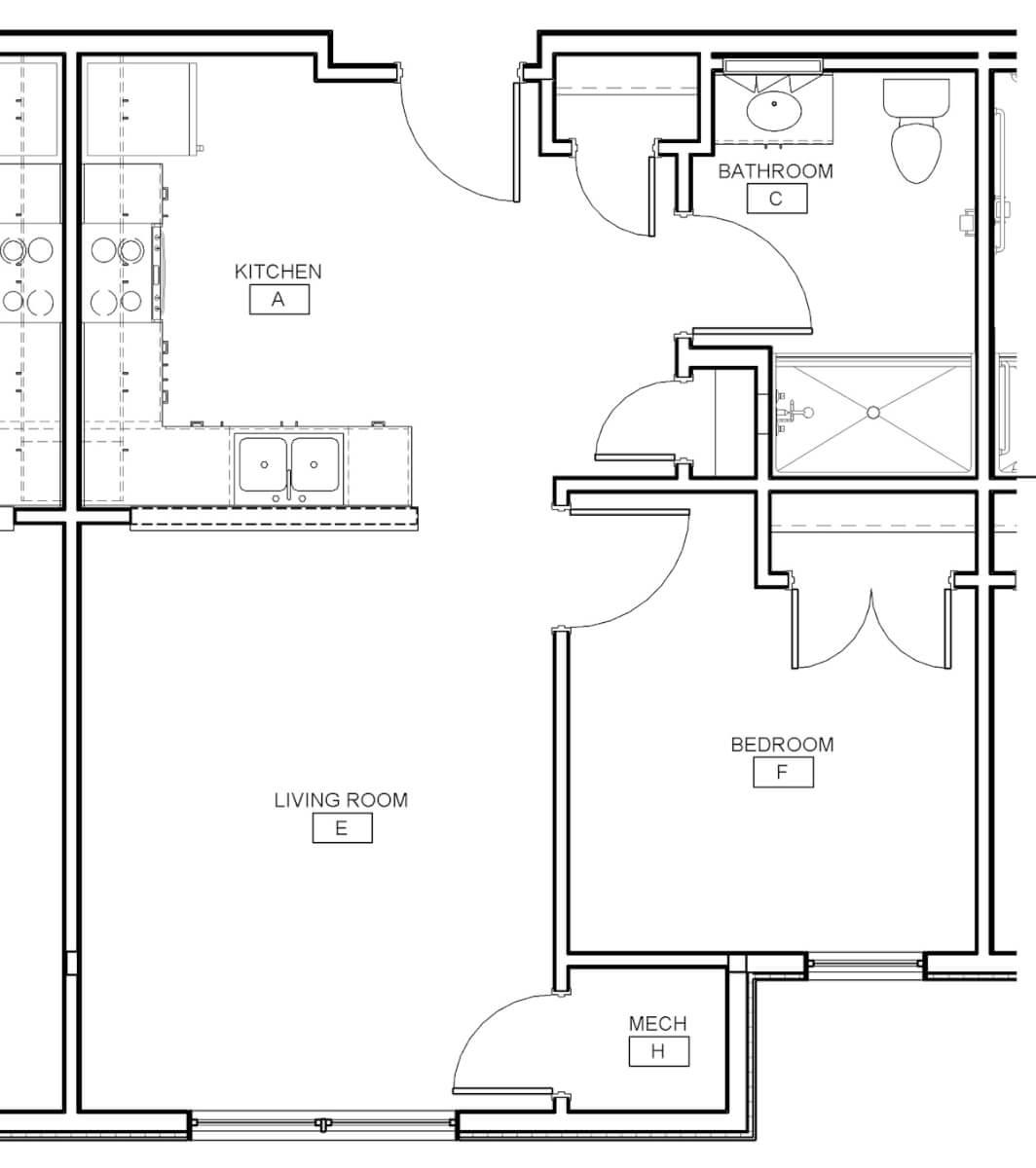 Ebenezer Square One Bedroom Unit Apartment