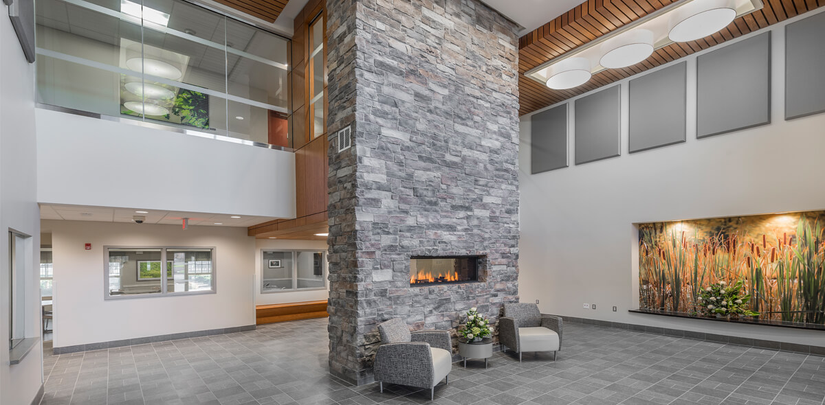 Ebenzer Square Apartments Fireplace