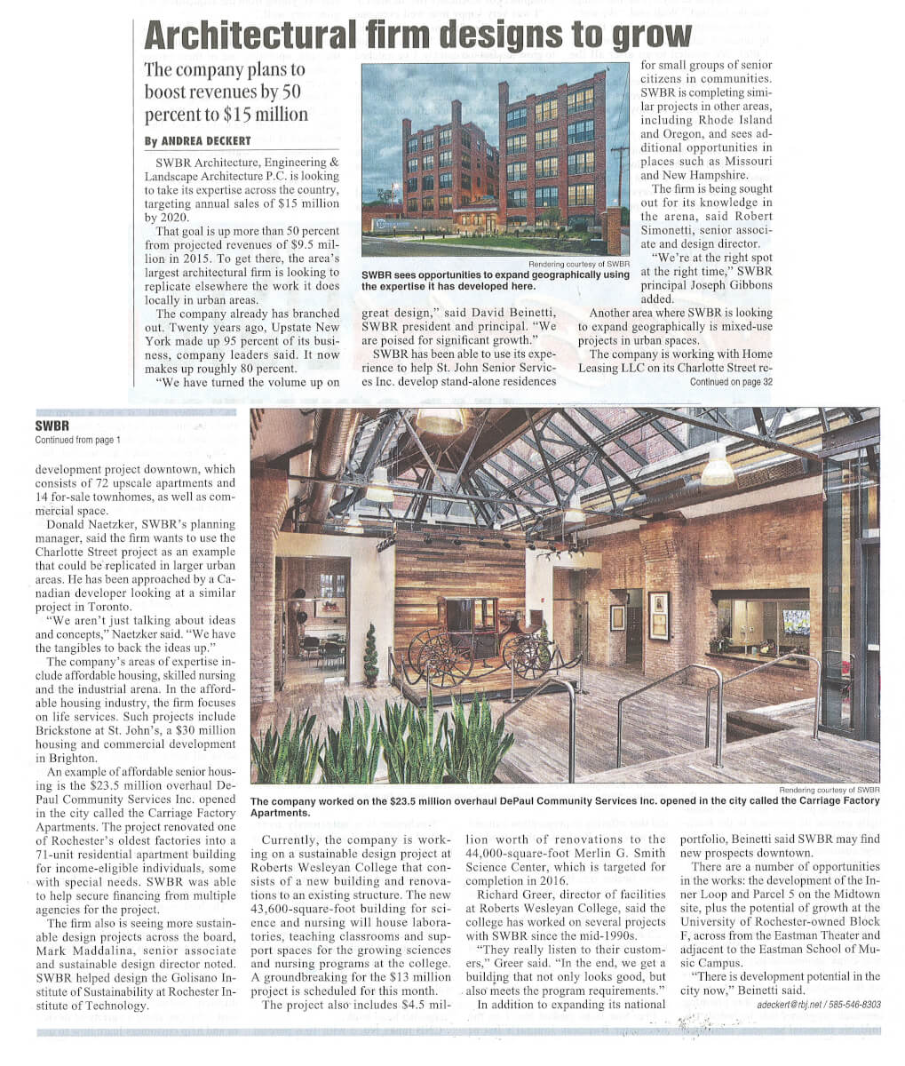 Architectural Firm Designs To Grow (Carriage Factory