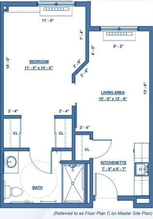 Wheatfield Commons DePaul Senior Living Floor Plan