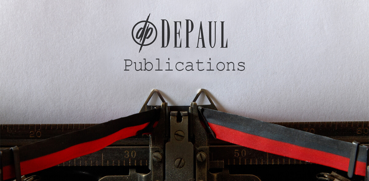 DePaul Publications Typewriter Header
