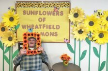 One Wheatfield Commons Residents With Sunflowers Display