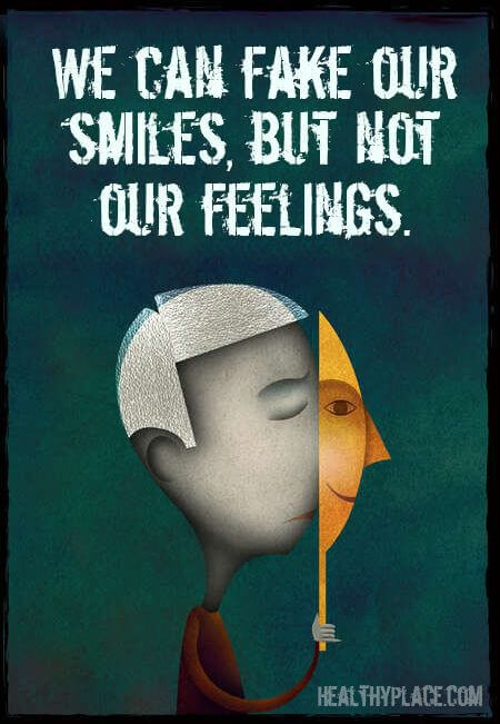 """We can fake out smiles, but not our feelings."" graphic"