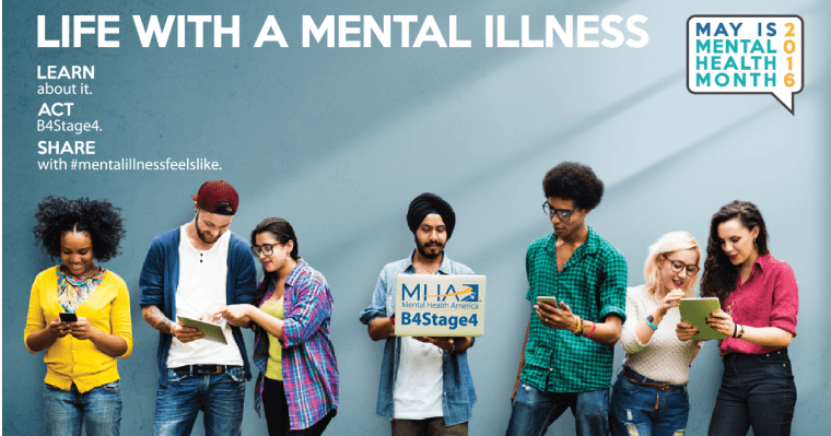 Life With  a Mental Illness graphic for Mental Health Month
