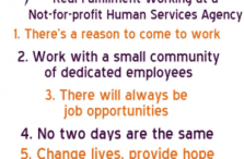 Five Reasons Why You'll Find Real Fulfillment Working at a Not-For-Profit Agency