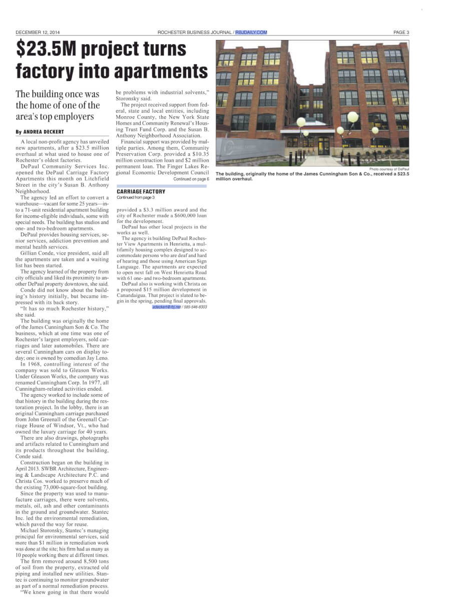 Carriage Factory article RBJ December 12 2014