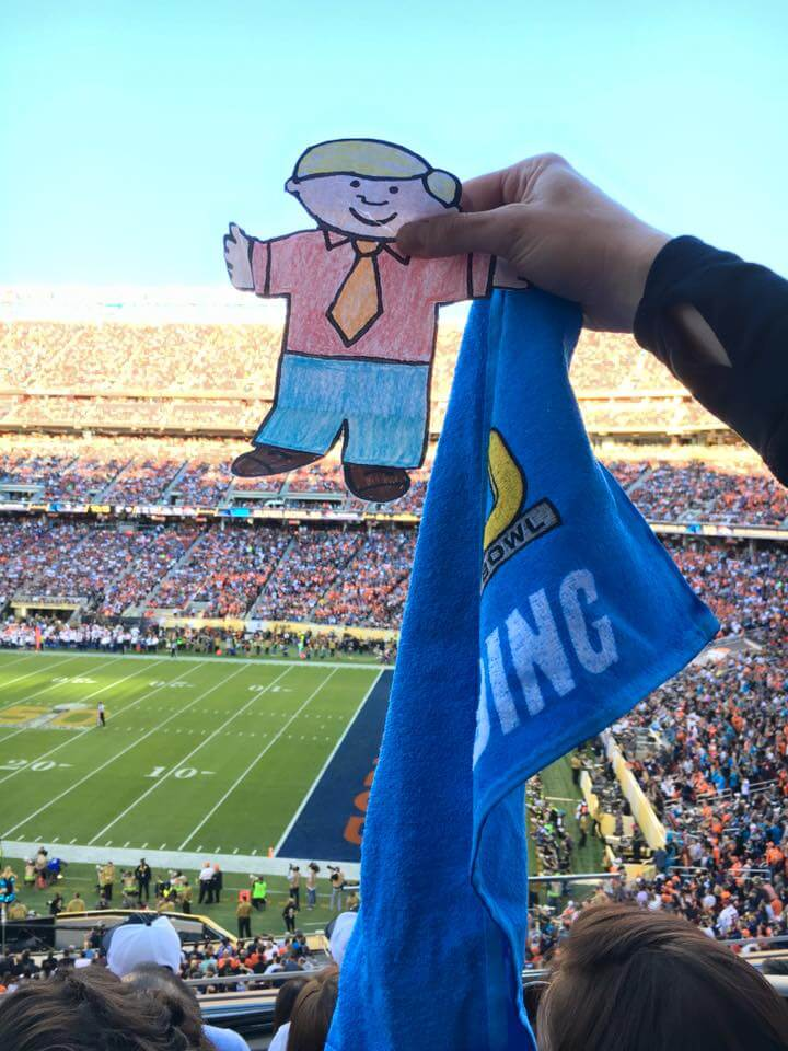 Flat Stanley at SuperBowl 50