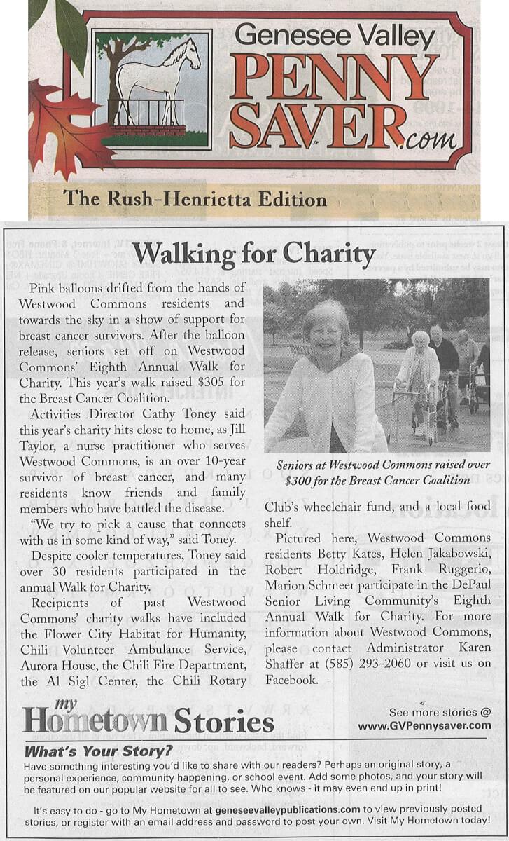 WWC Charity Walk, 9.12