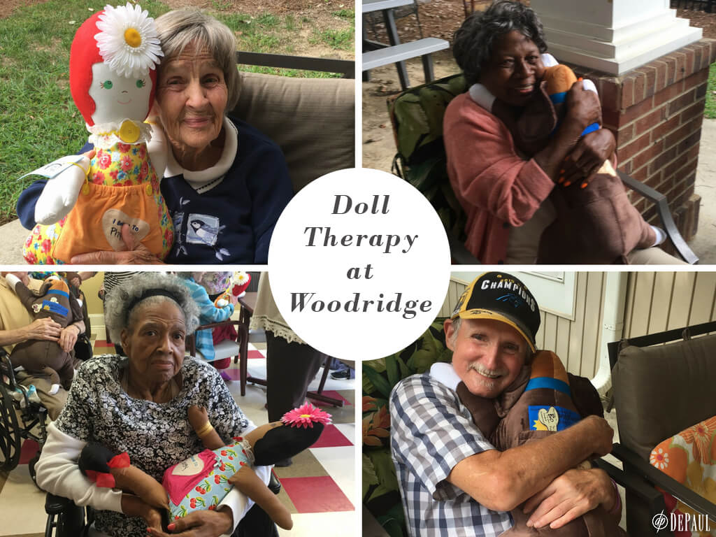 Comfort Companion dolls being held by Woodridge residents