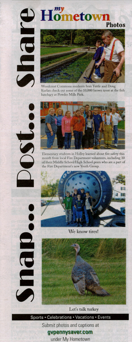 Woodcrest Commons residents visit the Fish Hatchery photo in the Genesee Valley Penny Saver November 2013