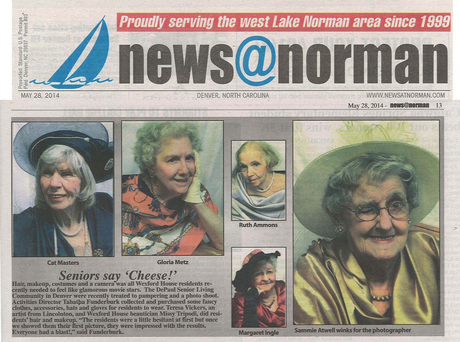 Wexford House Assisted Living does Glamour Shots Story in the News@Norman May 28, 2014