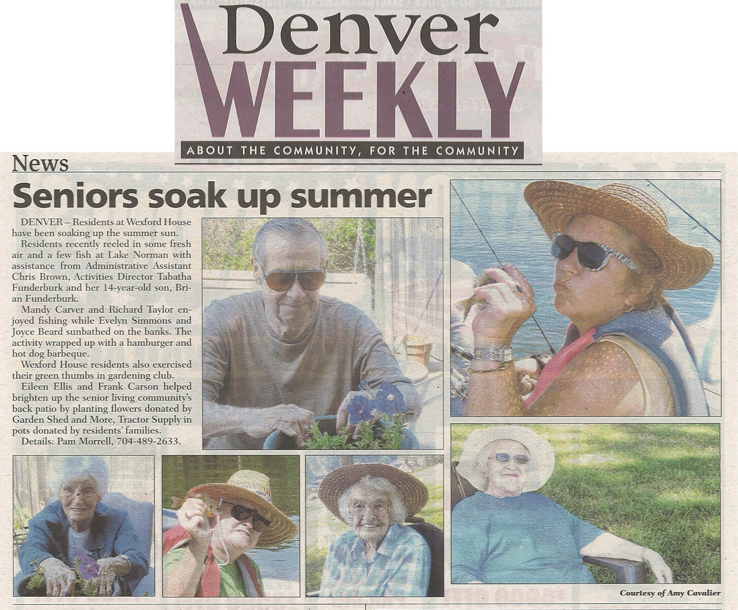 Wexford House Assisted Living Soakin' Up Summer article in the Denver Weekly July 2014