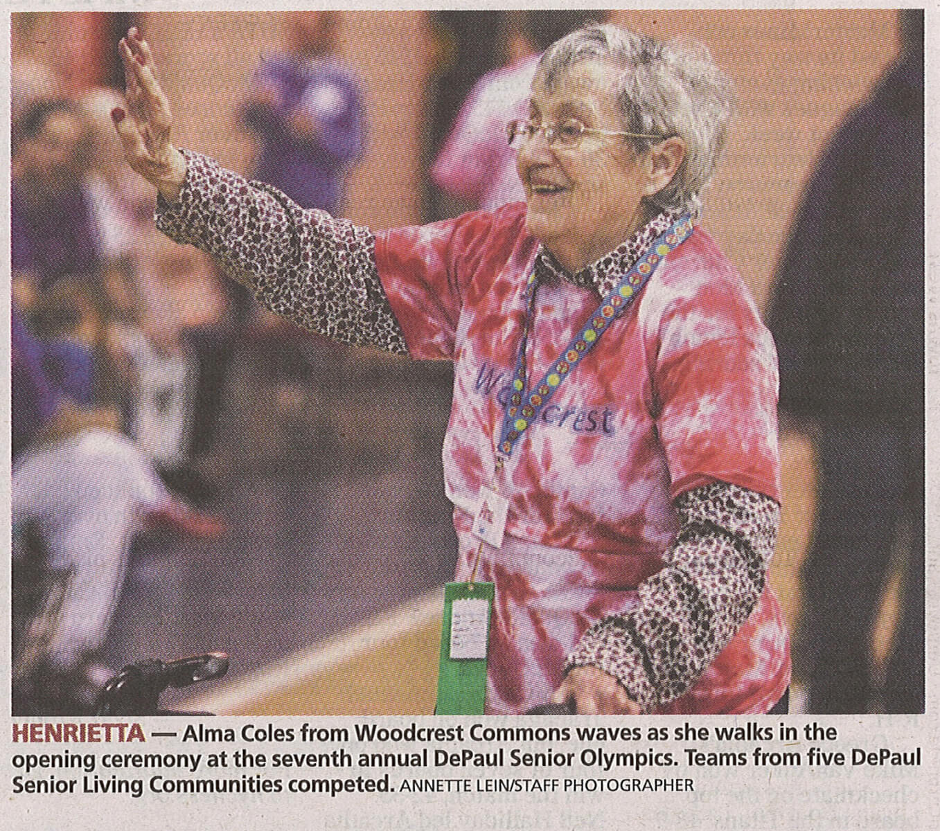 Westwood Commons Senior Olympics in the Democrat and Chronicle