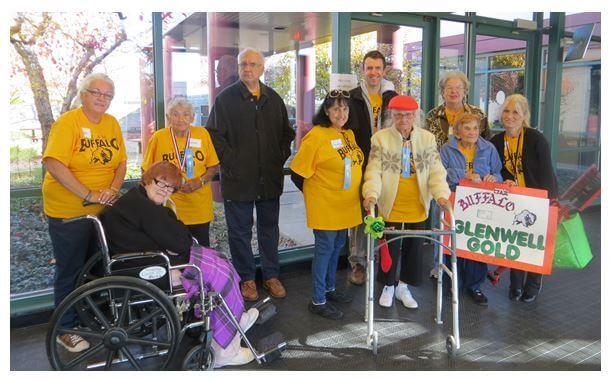 Glenwell's team at DePaul's Senior Olympics