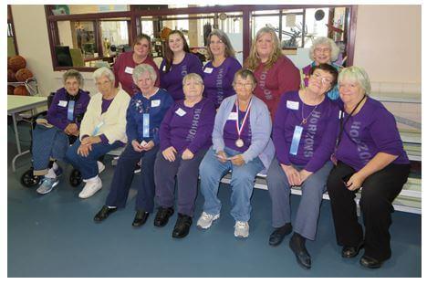 Group photo of Horizons' team at the DePaul Senior Olympics