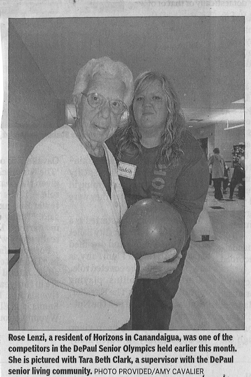 Horizons Assisted Living residents go bowling photo in the Daily Messenger November 24, 2016
