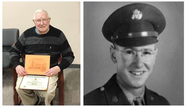 World War II veteran Art Gay Jr., a resident of Woodcrest Commons past and present photos