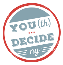 YOU(th) Decide NY Logo