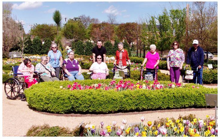 Also Pictured At The Paul J. Ciener Botanical Center Are Southfork  Residents Sarah Dempsey, Pat Mitchell, Activities Director Angel Parrish,  Judy Sink, ...