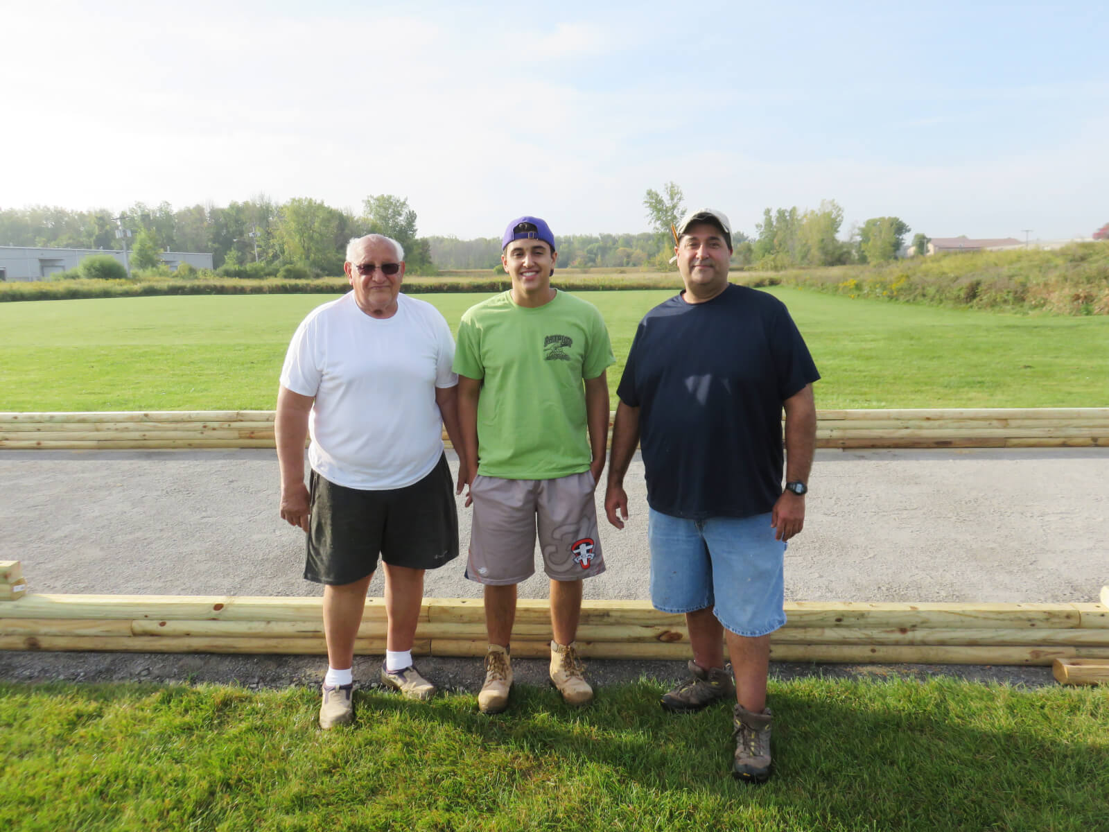 Frankie pictured with his grandfather, Frank Albano, and his father, Matt Tavino