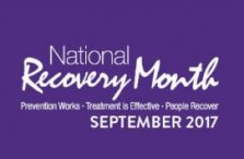 national Recovery month purple logo